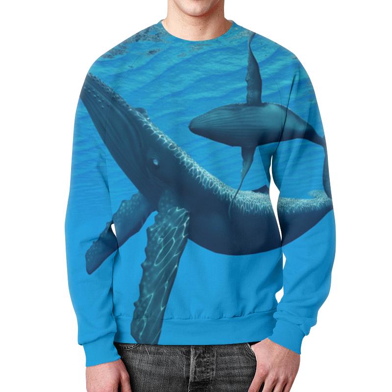 Свитшот унисекс с полной запечаткой Printio Горбатый кит свитшот print bar синий кит