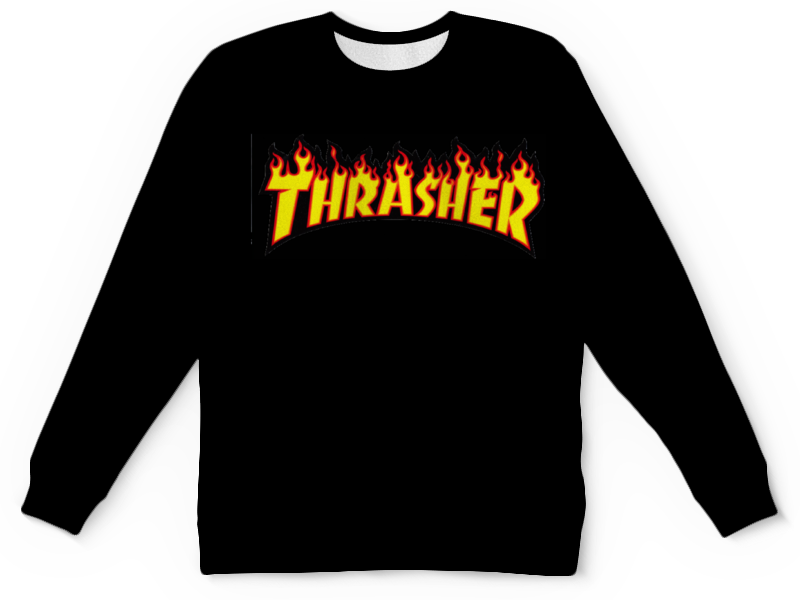 Свитшот унисекс  полной запечаткой Printio Thrasher