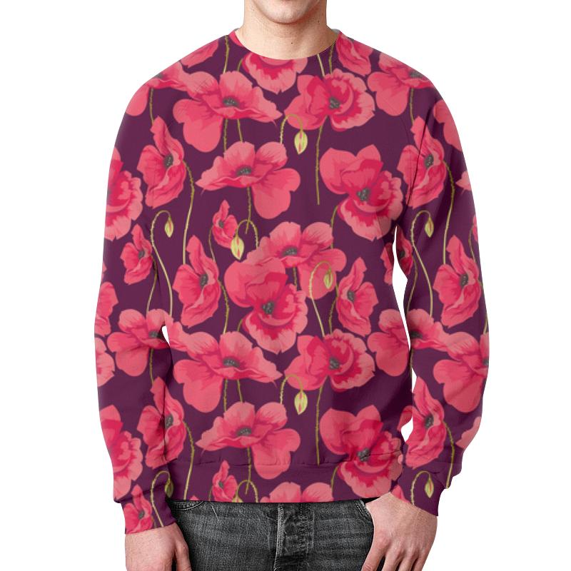 Свитшот мужской с полной запечаткой Printio Цветы цветы