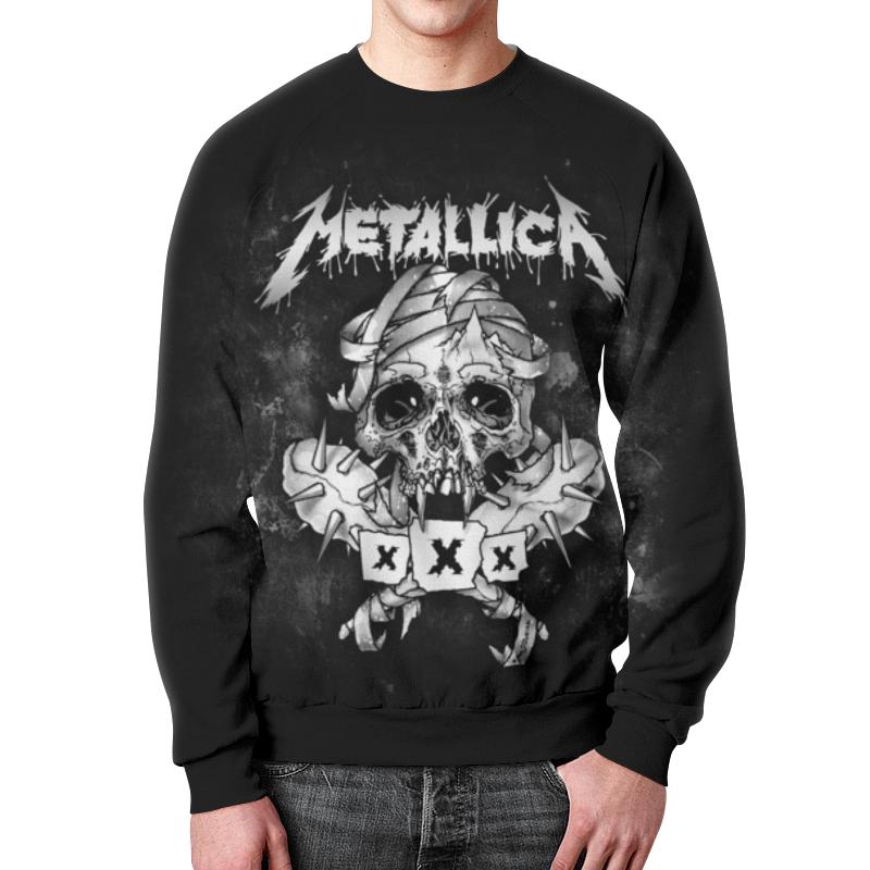 Свитшот мужской с полной запечаткой Printio Metallica свитшот print bar slayer red