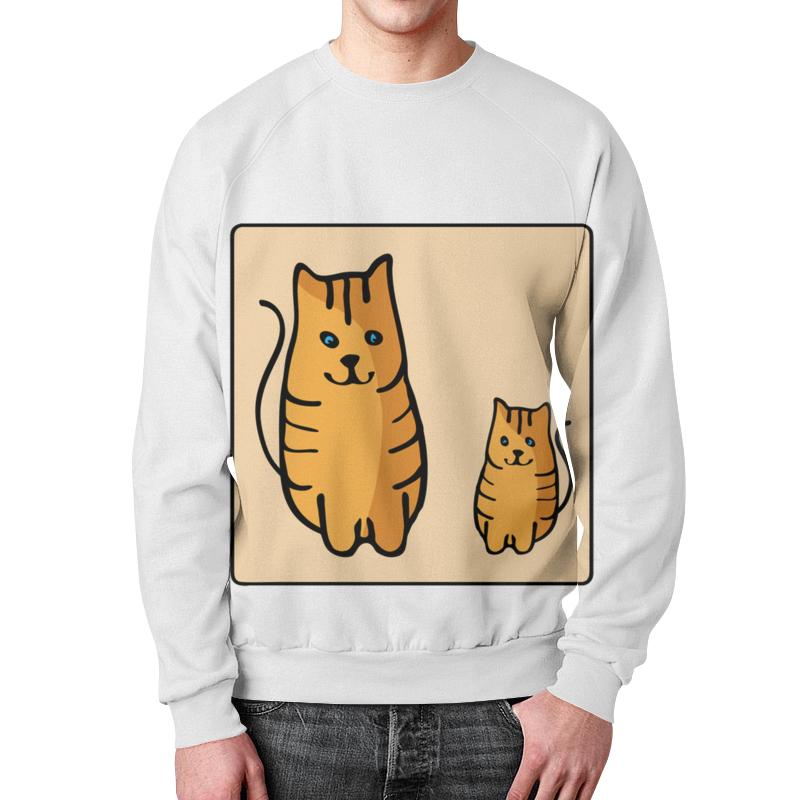 Свитшот унисекс с полной запечаткой Printio Два котика, смотрящие друг на друга неизвестный друг