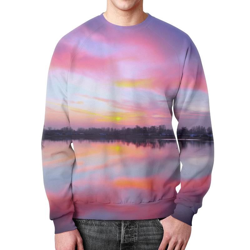 Свитшот мужской с полной запечаткой Printio Закат в красках футболка с полной запечаткой для девочек printio закат в красках