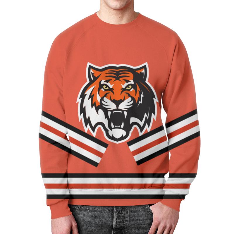 Свитшот унисекс с полной запечаткой Printio Хоккейная форма бузовой (красная)