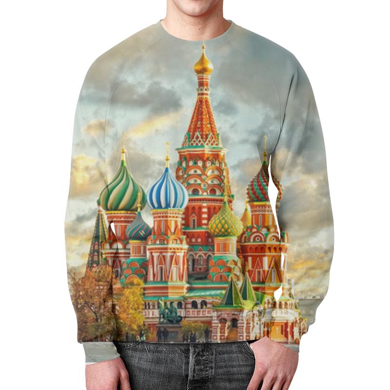 Свитшот мужской с полной запечаткой Printio Москва (россия) россия офорт старая москва кремль храм василия блаженного черно белый 16 21