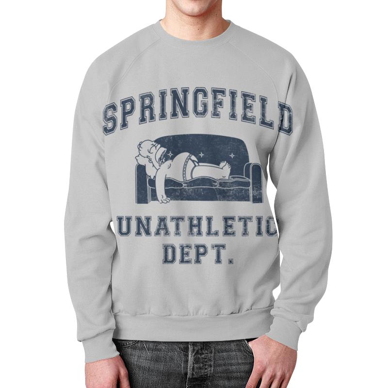 Свитшот мужской с полной запечаткой Printio Springfield unathletic dept свитшот springfield springfield sp014emwtl57