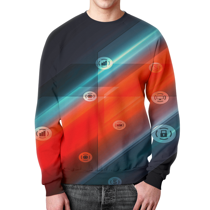Свитшот мужской с полной запечаткой Printio Виджеты футболка с полной запечаткой для мальчиков printio виджеты