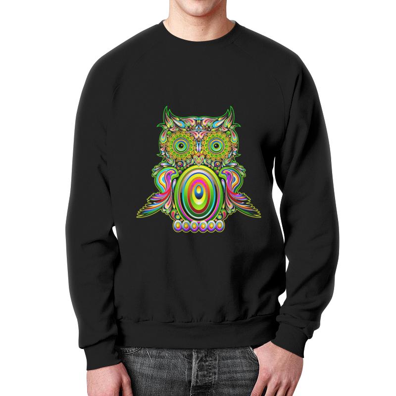 Свитшот мужской с полной запечаткой Printio Магическая сова. свитшот унисекс с полной запечаткой printio цветная сова