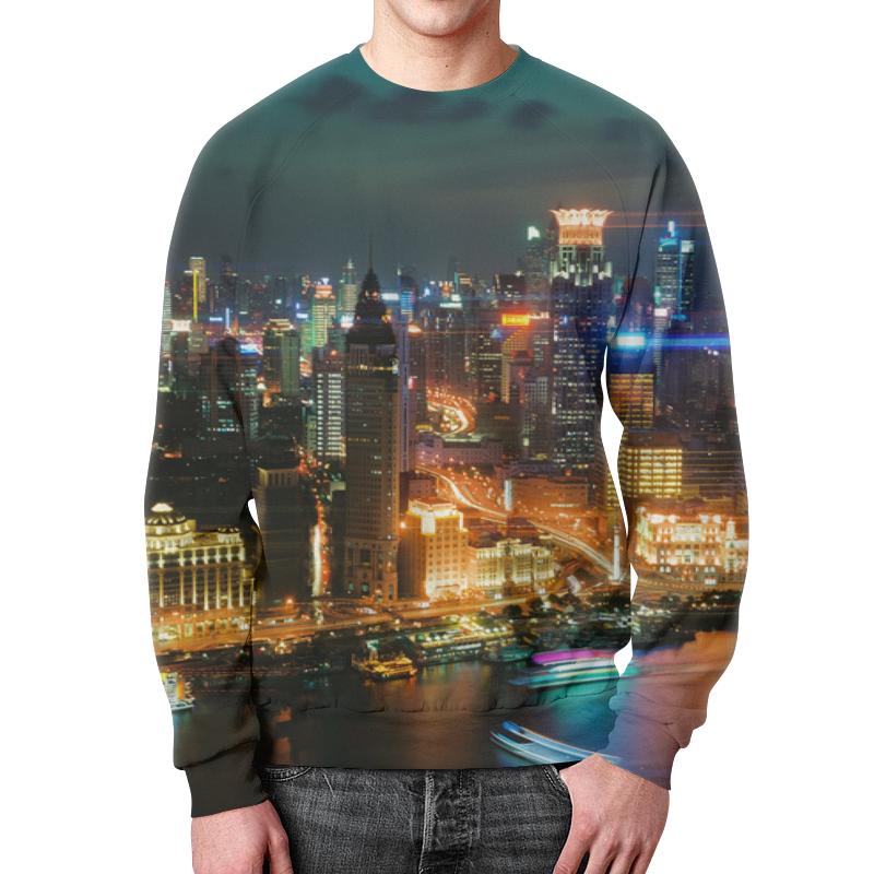 Свитшот унисекс с полной запечаткой Printio Ночной город свитшот print bar ночной город