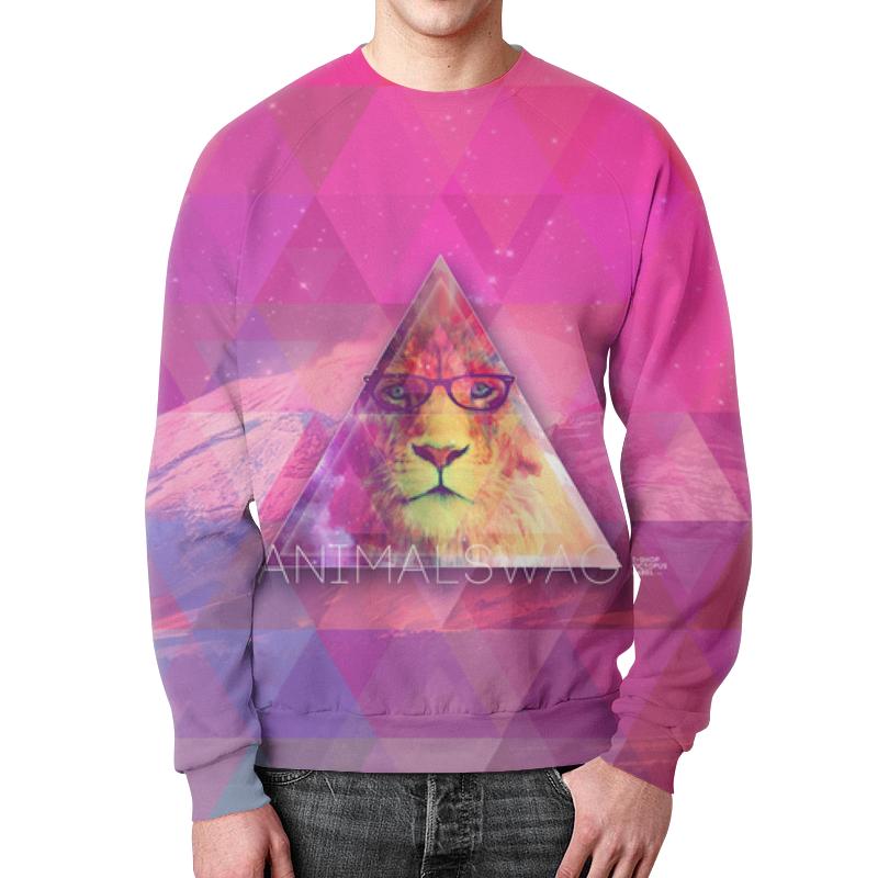 Свитшот мужской с полной запечаткой Printio animalswag ii collection: lion тетрадь на скрепке printio animalswag ii collection lion