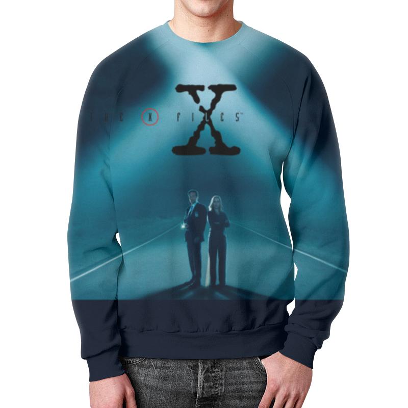 Свитшот мужской с полной запечаткой Printio Секретные материалы (x-files) футболка с полной запечаткой мужская printio секретные материалы x files
