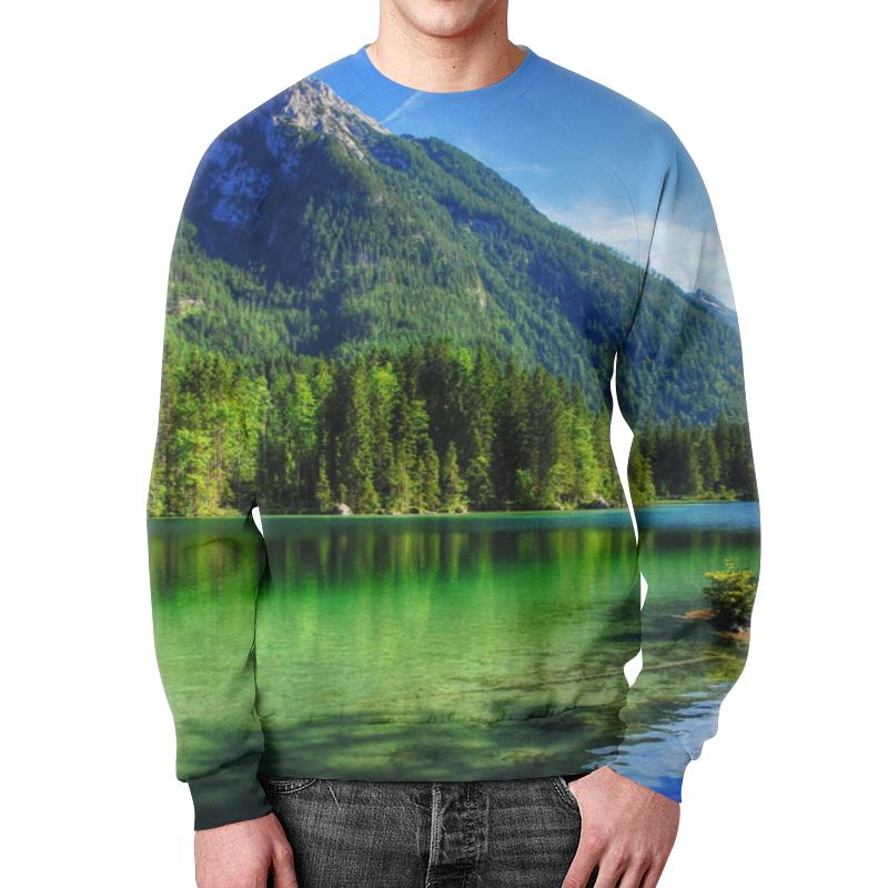 Printio Горное озеро свитшот мужской с полной запечаткой printio прозрачное озеро
