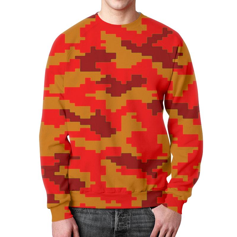 Свитшот мужской с полной запечаткой Printio Red camouflage xintown camouflage winter long sleeved