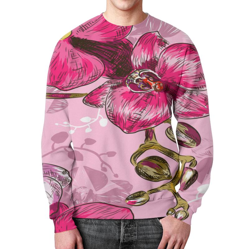 Свитшот мужской с полной запечаткой Printio Цветки свитшот мужской с полной запечаткой printio подарки