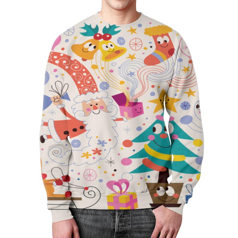 Свитшот мужской с полной запечаткой Printio Зимние праздники футболка с полной запечаткой для мальчиков printio зимние праздники