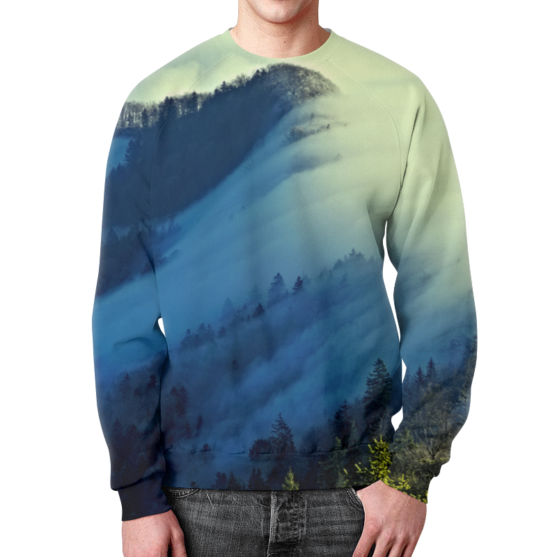 Свитшот мужской с полной запечаткой Printio Живописный пейзаж юбка в складку printio живописный пейзаж