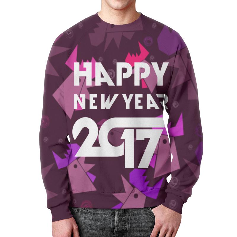 Свитшот мужской с полной запечаткой Printio Happy new year фартук с полной запечаткой printio happy new year
