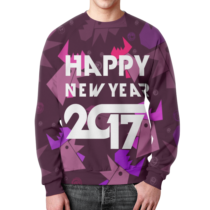 Свитшот унисекс с полной запечаткой Printio Happy new year фартук с полной запечаткой printio happy new year 2017