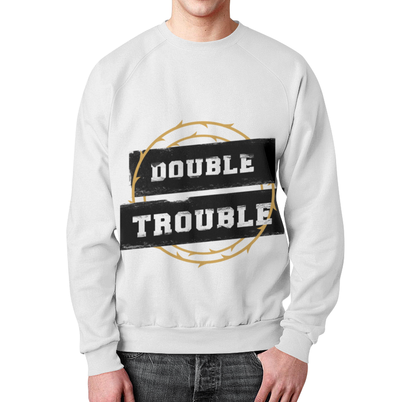 лучшая цена Свитшот мужской с полной запечаткой Printio Double trouble