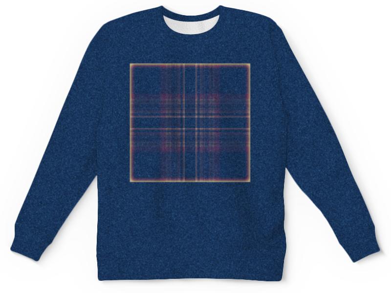 цена Printio Синий свитшот квадрат онлайн в 2017 году