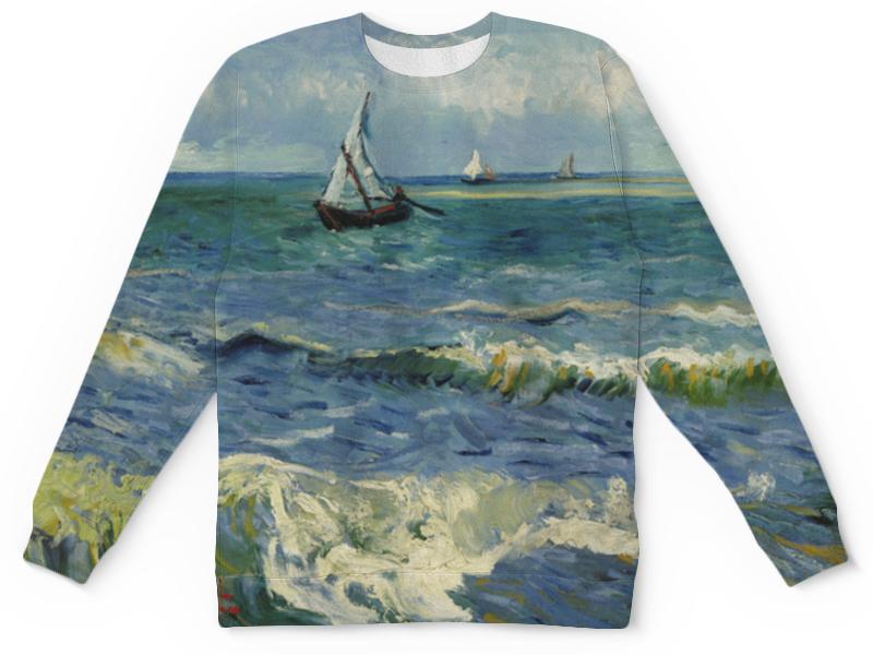 Свитшот унисекс с полной запечаткой Printio Морской пейзаж у сент-мари-де-ла-мер (ван гог) де ла бедуайер камилла растения
