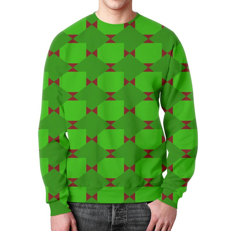 Фото - Свитшот мужской с полной запечаткой Printio Зеленые ромбы толстовка с полной запечаткой printio зеленые ромбы