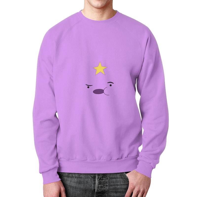 Свитшот мужской с полной запечаткой Printio Adventure time свитшот унисекс с полной запечаткой printio время приключений принцесса пупырка