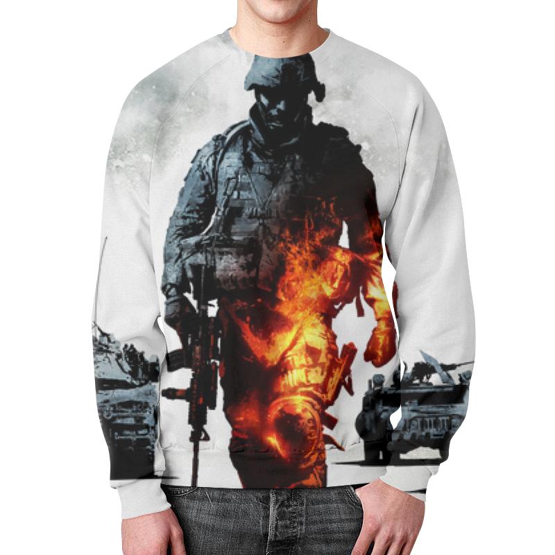 Свитшот унисекс с полной запечаткой Printio Солдат (battlefield) футболка с полной запечаткой мужская printio солдат battlefield