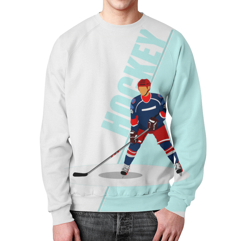 Свитшот мужской с полной запечаткой Printio Хоккеист свитшот print bar хоккеист кирилл