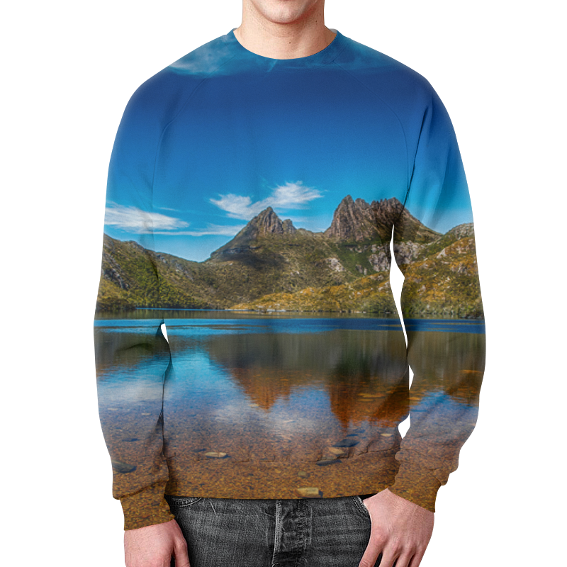 Свитшот мужской с полной запечаткой Printio Небо над горами коврик для мышки printio небо над горами