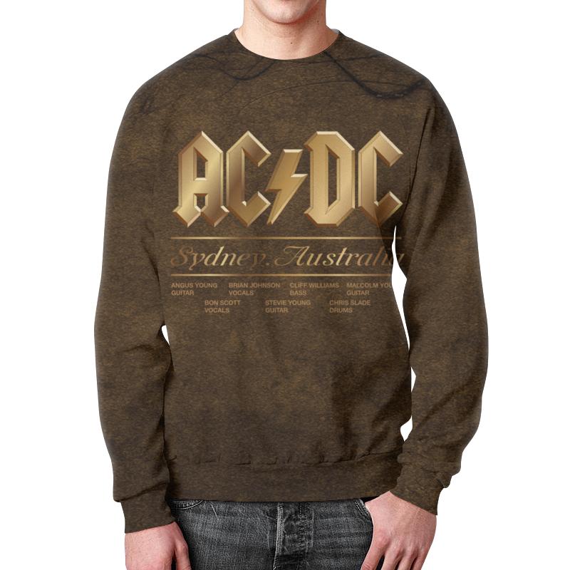 Свитшот унисекс с полной запечаткой Printio Ac/dc ac dc ac dc rock or bust lp cd 3d cover