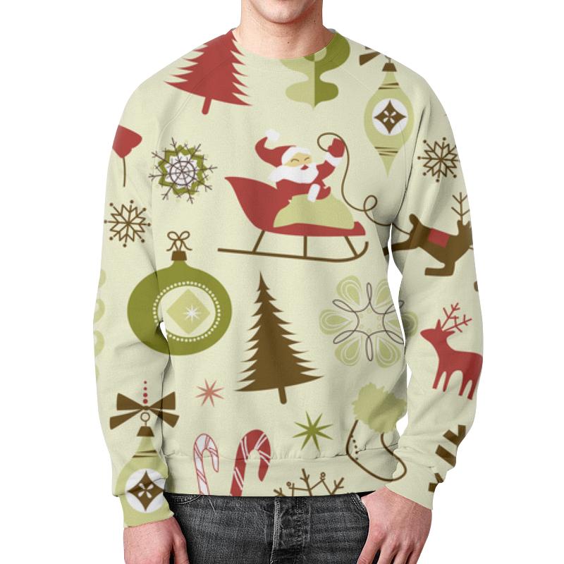 Свитшот мужской с полной запечаткой Printio Новогодний свитшот унисекс с полной запечаткой printio новогодний свитер