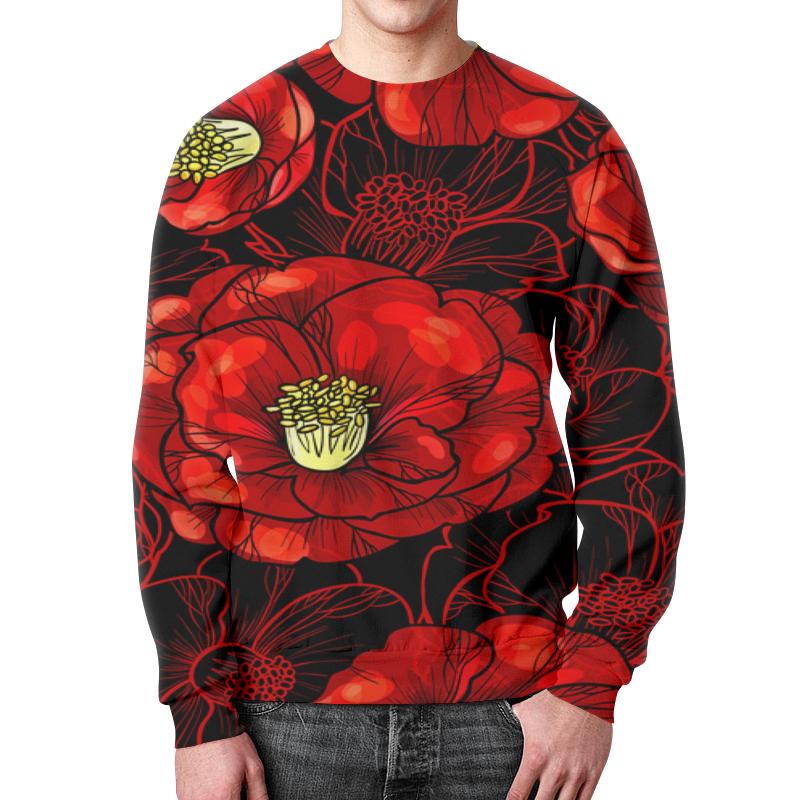 Свитшот унисекс с полной запечаткой Printio Цветы мака борцовка с полной запечаткой printio цветы мака