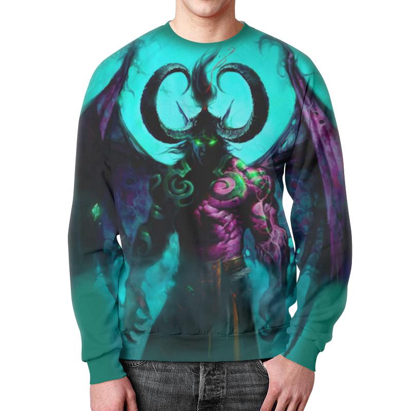 Фото - Свитшот унисекс с полной запечаткой Printio Warcraft collection: illidan подушка 60х40 с полной запечаткой printio warcraft illidan
