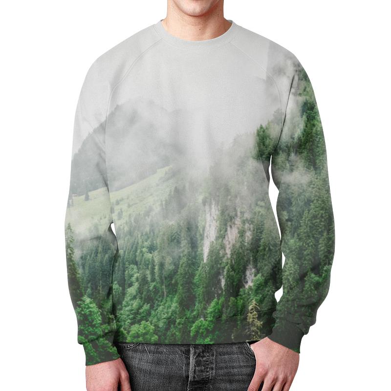 Свитшот унисекс с полной запечаткой Printio Туманные горы платье летнее printio туманные горы
