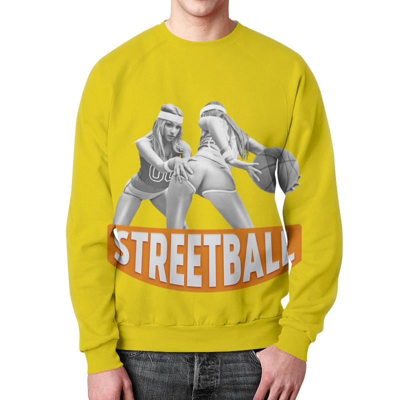 Свитшот мужской с полной запечаткой Printio Streetball мяч indigo 5 streetball