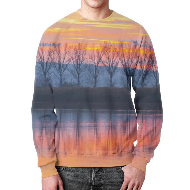 Свитшот унисекс с полной запечаткой Printio Деревья у воды картридж xerox 106r01277