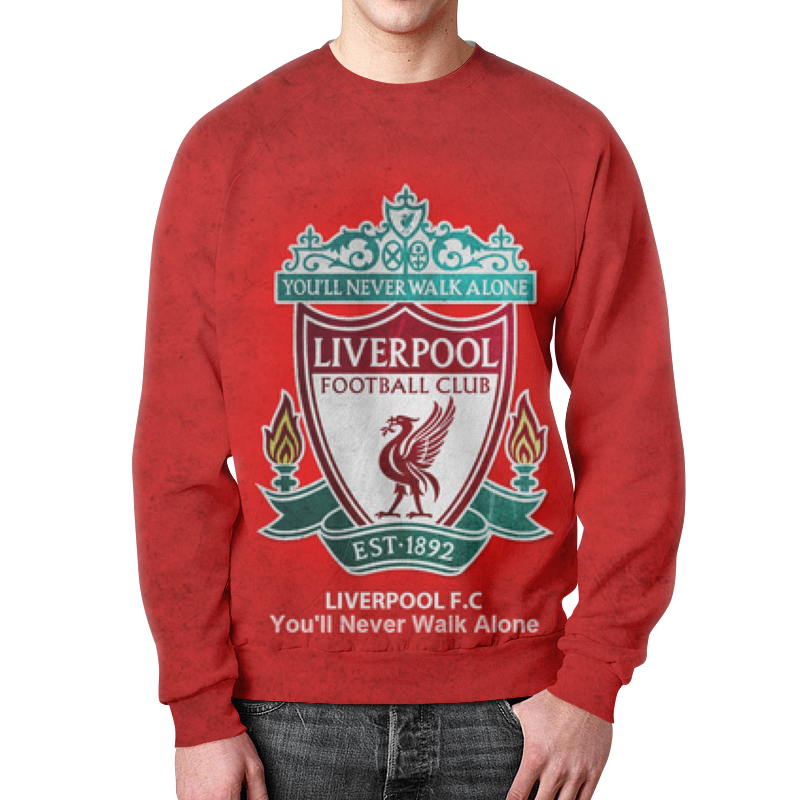 Свитшот унисекс с полной запечаткой Printio Liverpool (ливерпуль) paul carrack liverpool