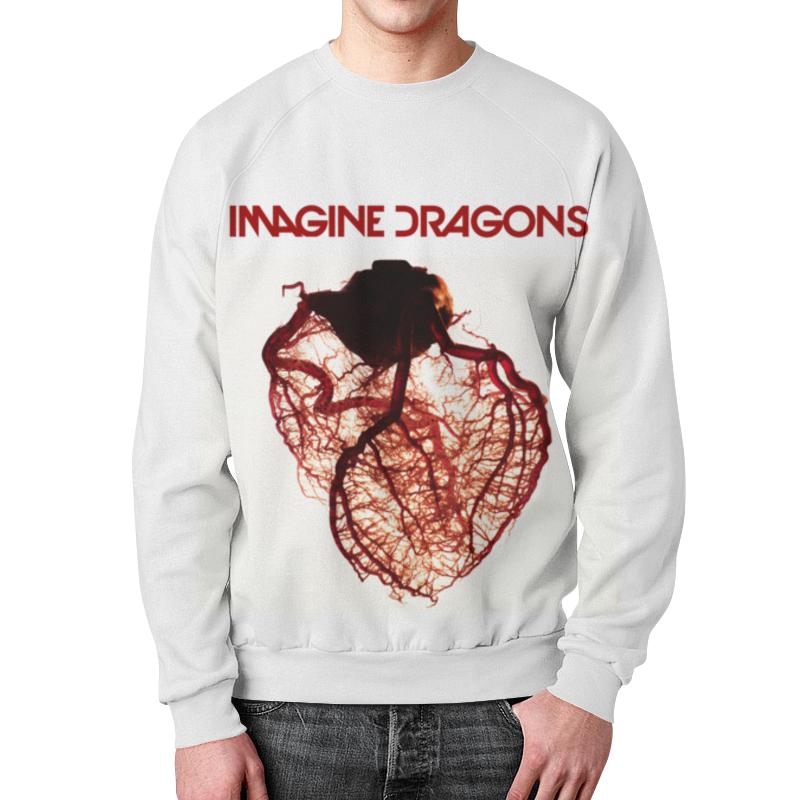 Свитшот мужской  полной запечаткой Printio Imagine dragons
