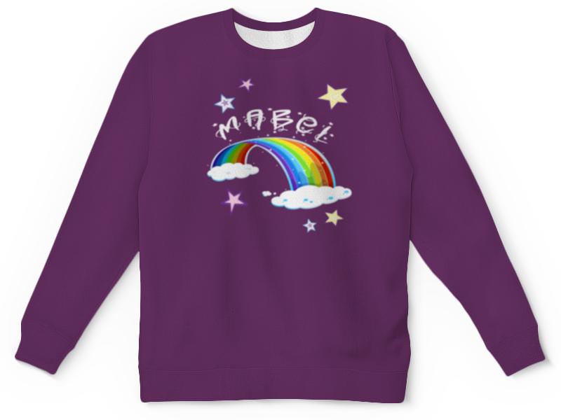 футболка с полной запечаткой для девочек printio мейбл gravity falls Свитшот унисекс с полной запечаткой Printio Мейбл (gravity falls)