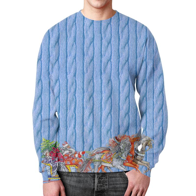Свитшот мужской с полной запечаткой Printio Новый год zogaa весной и осенью новый корейский мужской пиджак