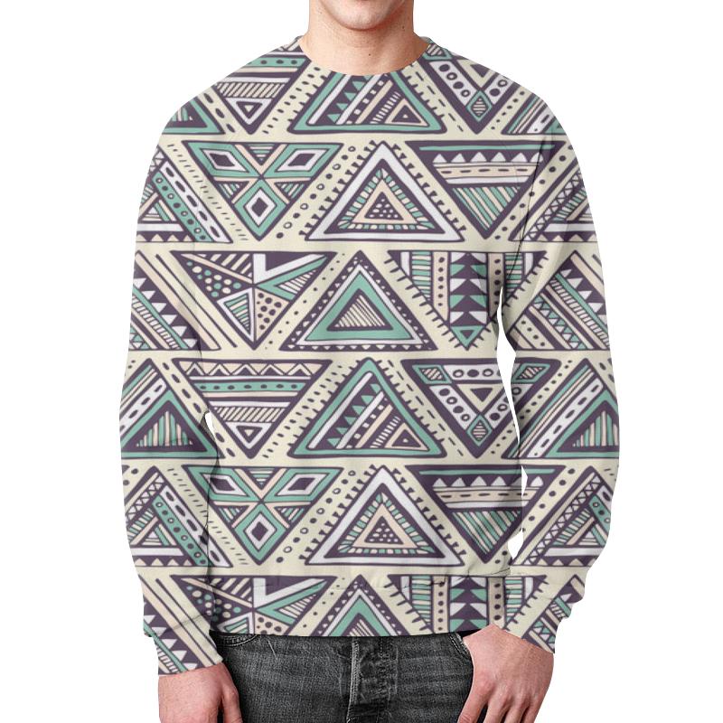 Свитшот мужской с полной запечаткой Printio Треугольники юбка карандаш printio треугольники