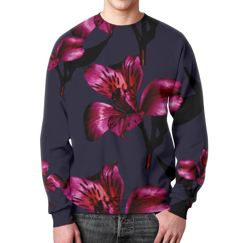 Свитшот мужской с полной запечаткой Printio Flowers чехол для iphone 5 глянцевый с полной запечаткой printio flowers