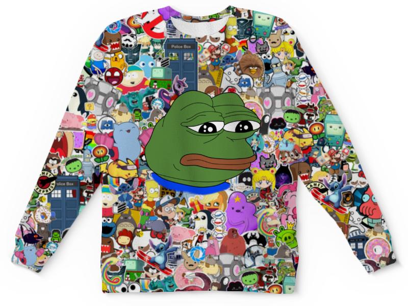 Свитшот унисекс с полной запечаткой Printio Pepe frog