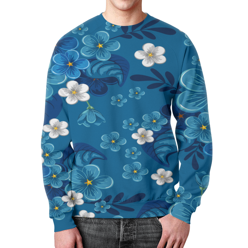 Свитшот мужской с полной запечаткой Printio Цветки свитшот мужской с полной запечаткой printio цветки