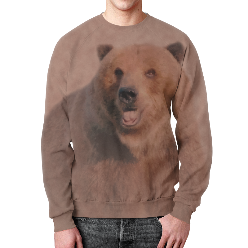Свитшот унисекс  полной запечаткой Printio Медведь