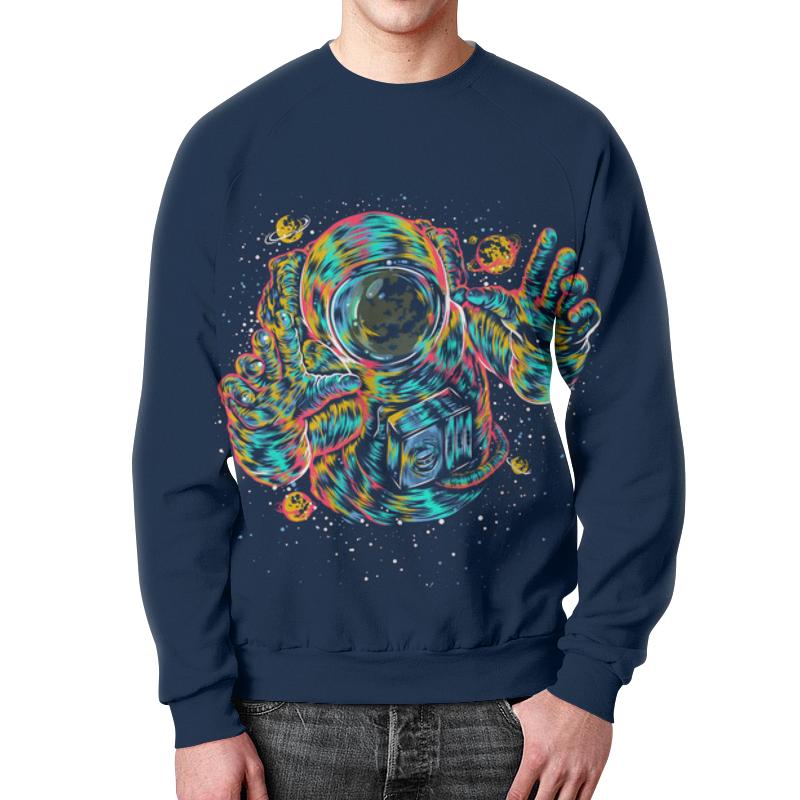 Свитшот унисекс с полной запечаткой Printio Космонавт свитшот унисекс с полной запечаткой printio панда космонавт