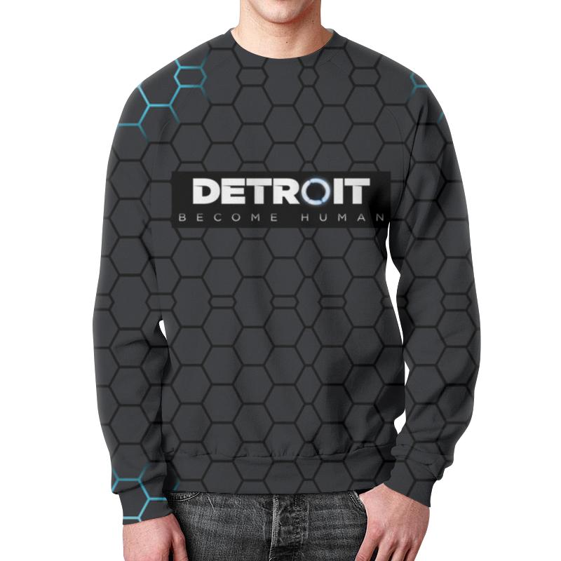 Свитшот мужской с полной запечаткой Printio Detroit become human рубашка поло с полной запечаткой printio detroit become human