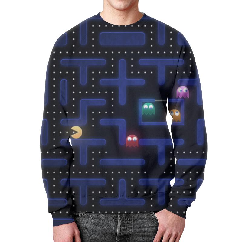 Свитшот мужской с полной запечаткой Printio Пакман игра для xbox пакман в мире привидений