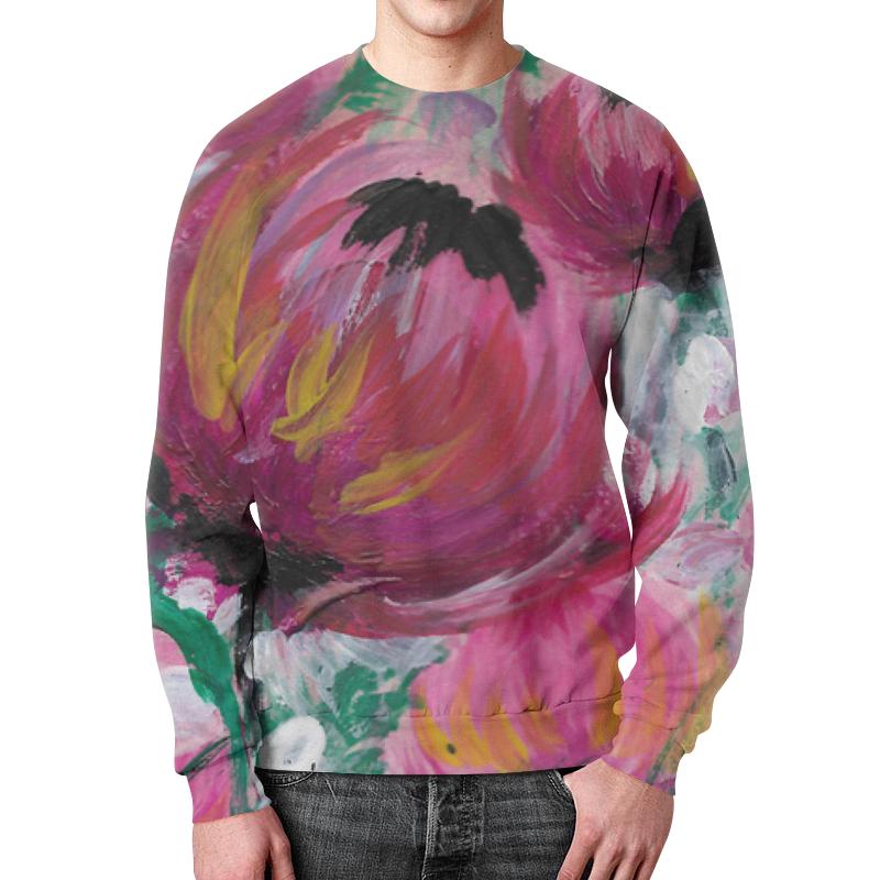 Свитшот мужской с полной запечаткой Printio Полевые цветы свитшот мужской с полной запечаткой printio полевые цветы