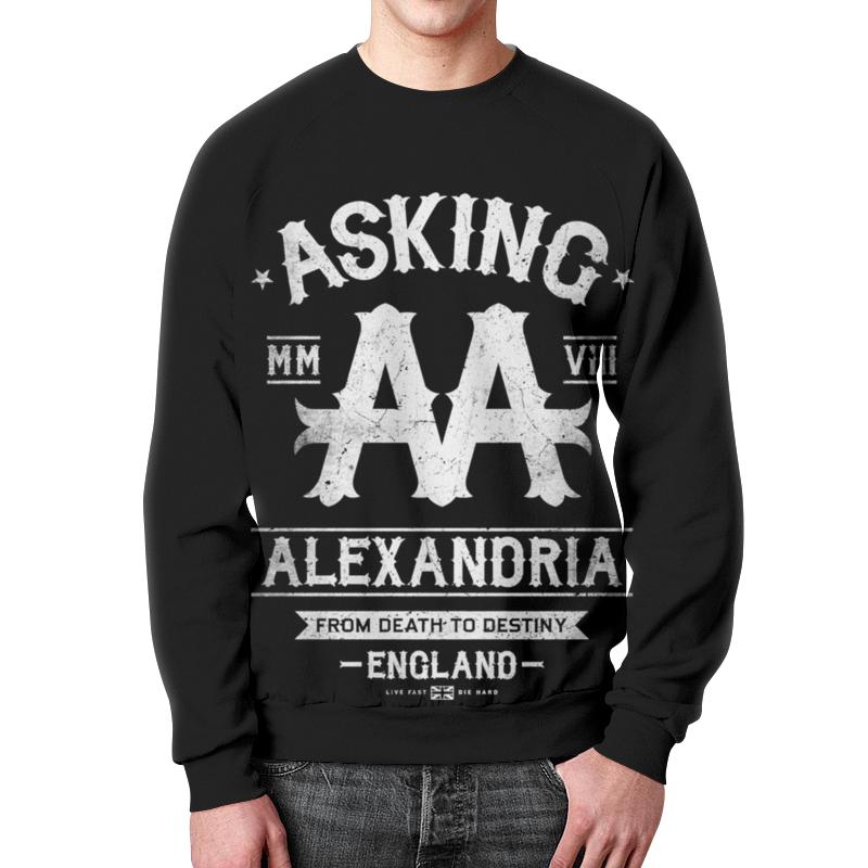 Свитшот унисекс с полной запечаткой Printio Asking alexandria футболка с полной запечаткой для мальчиков printio asking alexandria the black